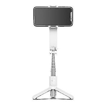 Trépied Bluetooth Selfie Stick sans fil extensible, stabilisateur de tir anti-tremblement de téléphone (blanc)