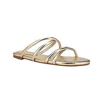 Negen West Womens Beva Criss-Cross Slip-On Flat Sandals