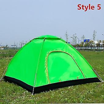 야외 캠핑 접이식 자동 텐트 2 사람들 해변 간단한 빠른 개방 자동 텐트