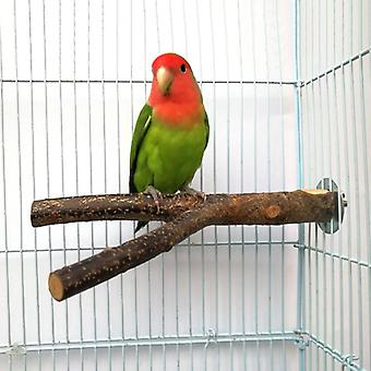 Pet Papoušek Surové dřevo Vidlice Stojan Stojan Na StojanOvá Toy 15cm Branch Perches For Bird