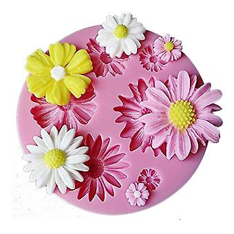 1 Pc craft cupcake bloom 3d rose flower fondant silicone mold mould baking cake cookies form jelly candy chocolate soap sugar