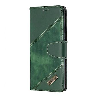 Splicing Pu Leather Case For Samsung A51 Wallet Flip Card Holder Stand Cover