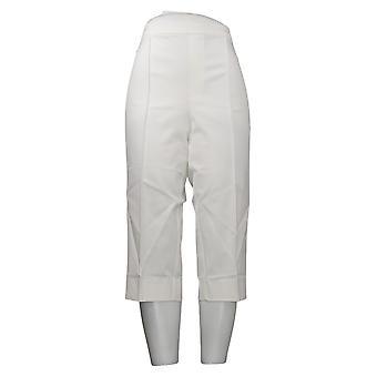 Isaac Mizrahi En direct! Pantalon pour femme Pédale Pusher Pintucks Blanc A377474
