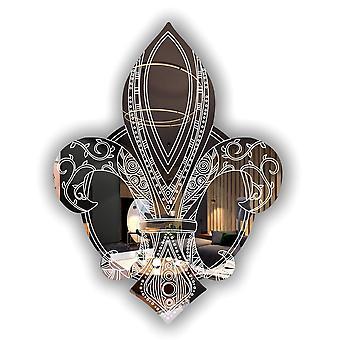 Fleur de lis Decorative Acrylic Mirror