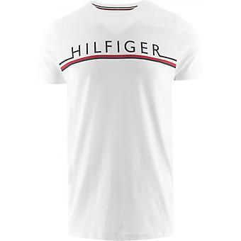 Tommy Hilfiger Valkoinen Core Raita T-paita