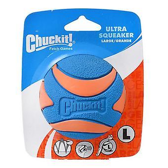 """تشاكيت الترا Squeaker الكرة الكلب لعبة - كبير (3"""" القطر)"""
