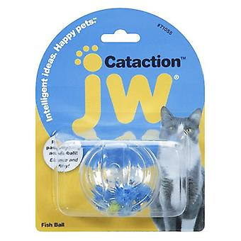 JW Pet Cataction Fish Ball Interactive Cat Toy  - 1 count