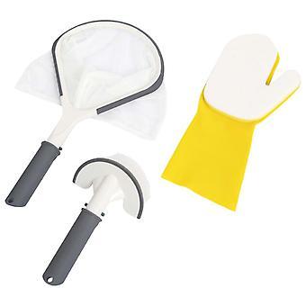 Lay-Z-Spa Tudo em uma ferramenta definir piscina colher escova esfregando luva