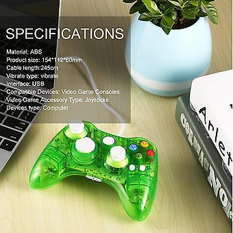 Usb bedrade gamecontroller voor Xbox 360 Joypad Gamepad joystick met led-licht