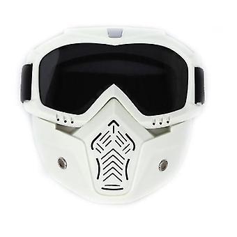 Мотоцикл шлем езда очки очки со съемной маской лица