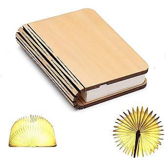 Holz Buch Lampe, Mini Buch Falten wiederaufladbare USB Licht wiederaufladbare Lithium-Batterien 1000mah Led Schreibtisch Tischlampe