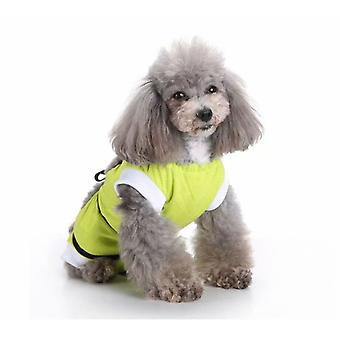 Pet Clothing, Dog Clothing, Sterilization Clothing, Dog Rehabilitation Clothing, Pet Injury Protective Clothing, Pet Supplies (green, S)
