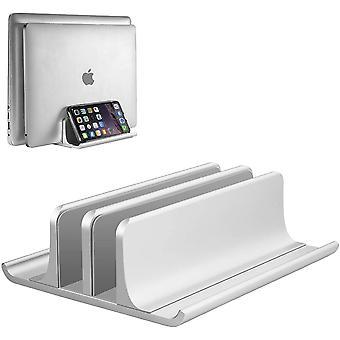 Nastaviteľný vertikálny stojan na notebook, hliníkový stojan 4 v 1 s 2 slotmi, čím šetrí miesto