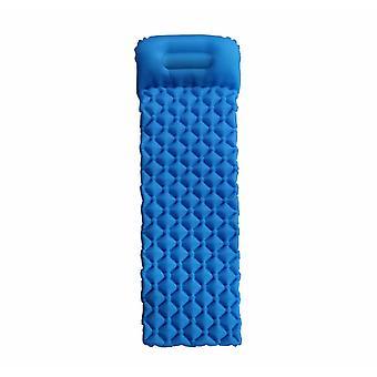 Coussin gonflable portable extérieur, Tapis de camping résistant à l'humidité, Tapis de pique-nique, Convient au camping, aux voyages, à la randonnée (bleu)