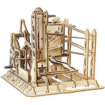 3d הרכבה עץ פאזל המוח טיזר משחק הילוכים מכניים להגדיר ערכת שיש לרוץ סט (להרים רכבת)