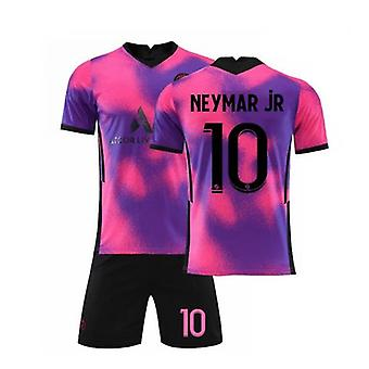 Neymar Jr 10 Jersey 2021-2022 New Season Paris Soccer T-shirts Jersey Set For Kids/youths