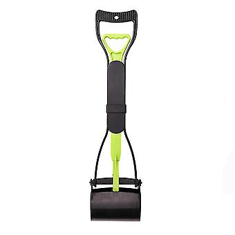Long Handle Pet Toilet Picker, Dog Clip, Stool, Pet Cleaning Supplies(Green Black)