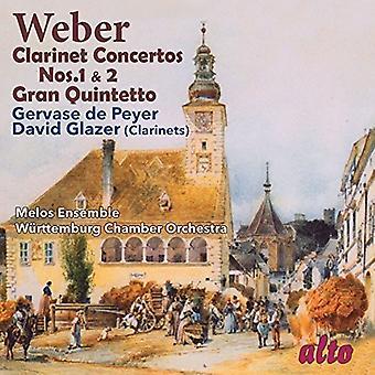 Weber / Glazer, David / Gervase De Peyer - clarinette Concertos nos 1 et 2 / import USA Gran Quintetto [CD]