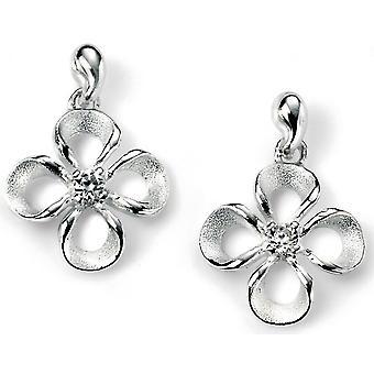 925 zilveren bloem Earring