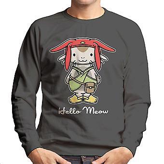 Hello Meow Space Dandy Kitty Men's Sweatshirt