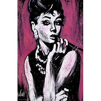 Audrey Fabulous Poster Poster Print by Stephen Fishwick