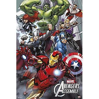 Marvel Avengers Assemble Poster Poster Print