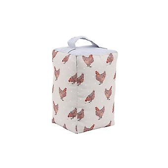 CGB Giftware Holly House Chicken Fabric Doorstop