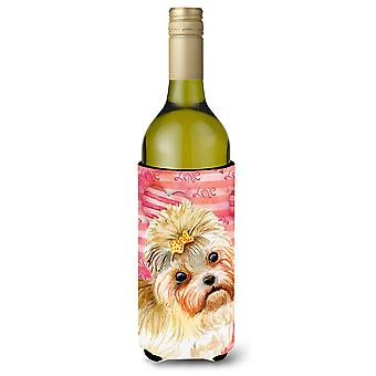 Morkie Love Wine Bottle Beverge Insulator Hugger