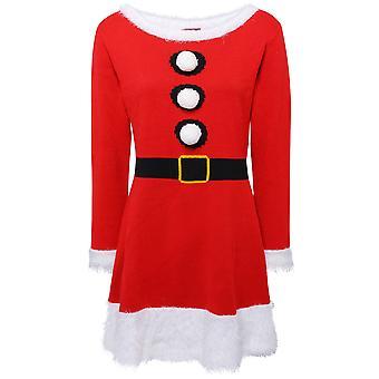 Shop Womens jul stickad klänning