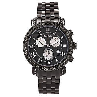 Joe Rodeo diamond men's watch - CLASSIC black 5.25 ctw