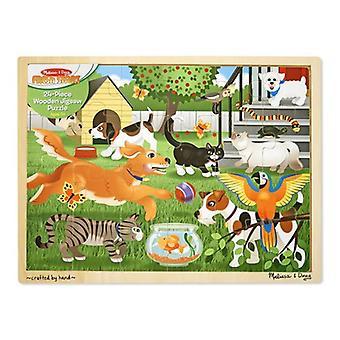 Melissa & Doug 24 kawałek układanki drewniane zwierzęta
