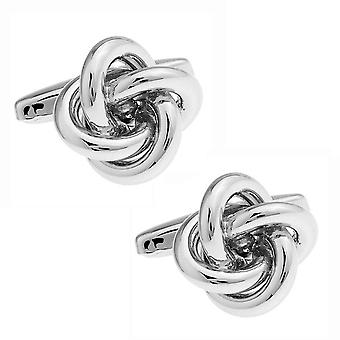 Mens Ladies Luxury Shirt Cufflinks Silver Knot Unique Gift