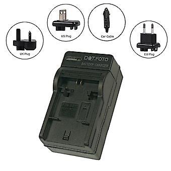 Dot.Foto Samsung BP88A Reise-Ladegerät für Samsung DV300, DV300F, DV305, DV305F