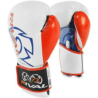 Rival Boxing RB7 Fitness+ Hook and Loop Bag Gloves - White/Blue/Red