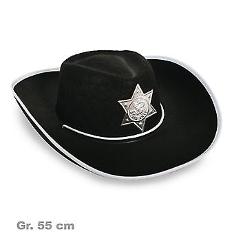 Sheriff Hat wilde westen zwarte Sheriff's badge