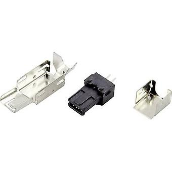 Mini USB A connector Plug, straight DS1105-BBN0 Connfly Content: 1 pc(s)