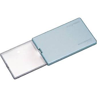 Eschenbach 152122 Handheld magnifier incl. LED lighting Magnification: 4 x Lens size: (L x W) 86 mm x 54 mm Blue