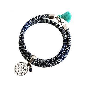 -Pulseira - safira pulseira - prata 925 - árvore da vida - asteca - - azul