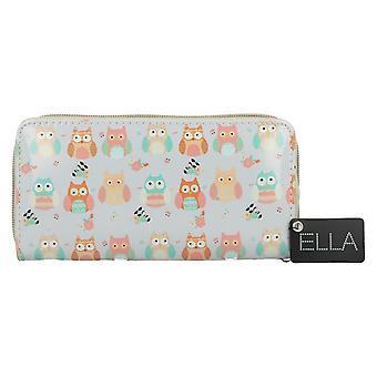 Ella Ladies Own Print Zip Around Purse 73112