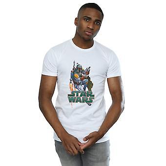Boba Fett masculine de Star Wars Fired Up T-Shirt