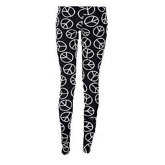 Le signore USA azteco Pinstripe pace nebulosa Dogtooth Camo stampa Leggings donna
