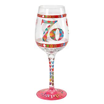Here's To You 70th Birthday Wine Glass