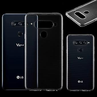 For LG V40 sin ThinQ Silikoncase gjennomsiktig ultra tynn tilfelle bag dekke nye TPU