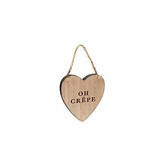 Loft Oh Crepe Wooden Heart Hanger
