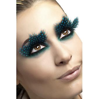 Smiffy's Eyelashes Feather With Aqua Dots