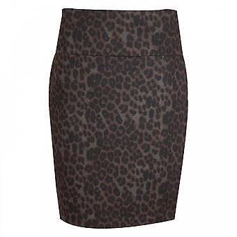 Up! Leopard Print Pencil Skirt