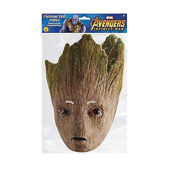 Groot Infinity War Official Marvel Single 2D Card Party Fancy Dress Mask