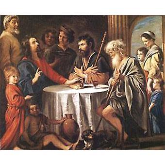 Les Pèlerins d'Emmaus, Louis Le Nain, 60x50cm