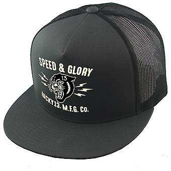 Lucky 13 unisex Trucker Cap the Panther Head charcoal