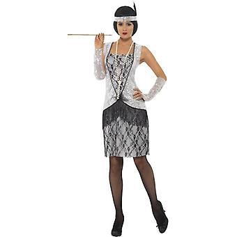 Flapper kostuum, UK jurk 12-14